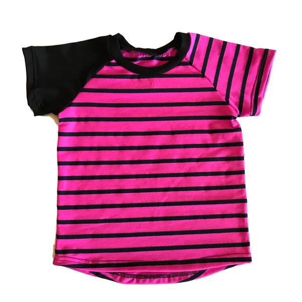 Basic Neon Stripe Raglan - Short Sleeve RTS