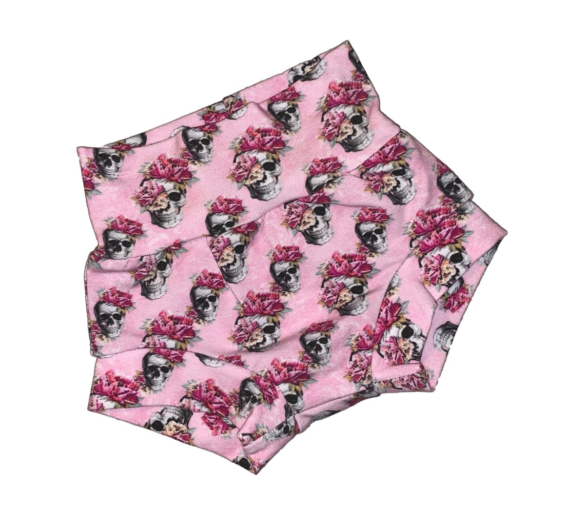 Skull Floral Bummies - RTS