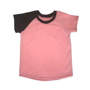 Basic Dusty Rose Raglan - Short Sleeve RTS