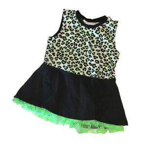 Bundle - Black Leggings & Neon Lace Peplum