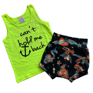 2T Bundle - Neon Tank & Tattoo Shorties