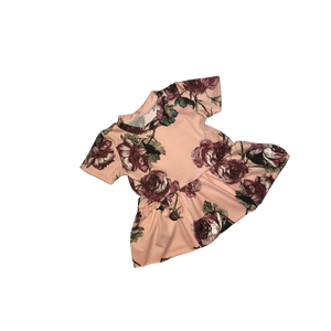 Dusty Rose Floral Peplum