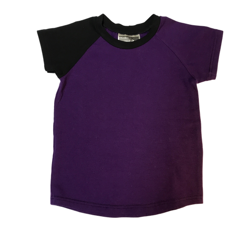 Basic Eggplant Raglan - Short Sleeve