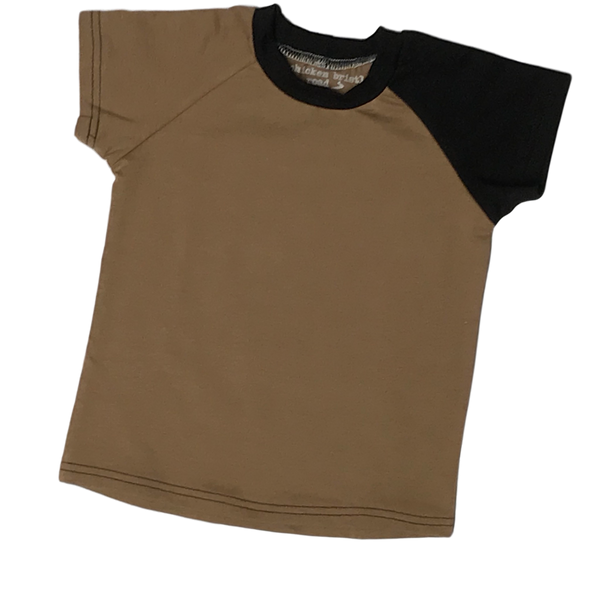 Basic Mocha Raglan - Short Sleeve