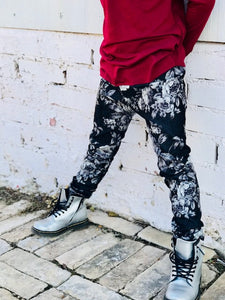 Floral Denim Jeggings