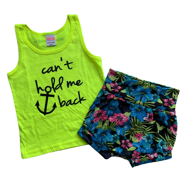 2T Bundle - Neon Tank & Tropical Shorties