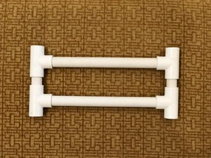 Fringeless PVC Jig for Mirrix Little Guy Loom (9 inches wide)