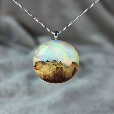 Rainbow Opal Necklace - Round