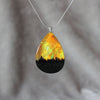 Yellow Flame | opal pendant [teardrop]