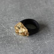 24k Gold Wood Ring