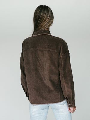 Corduroy Jacket (Chocolate)