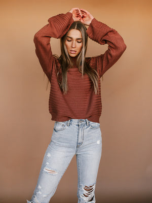 Hailee Sweater (Coffee Brown)