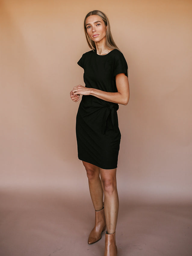 Ryan Wrap Dress (Black)