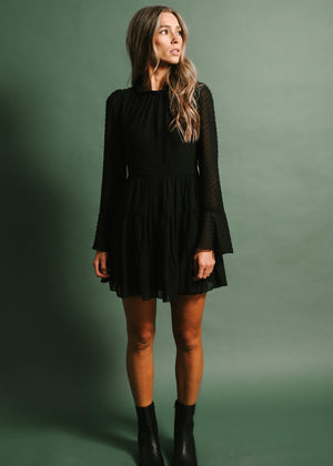 Say It Ain't So Mini Dress (Black)
