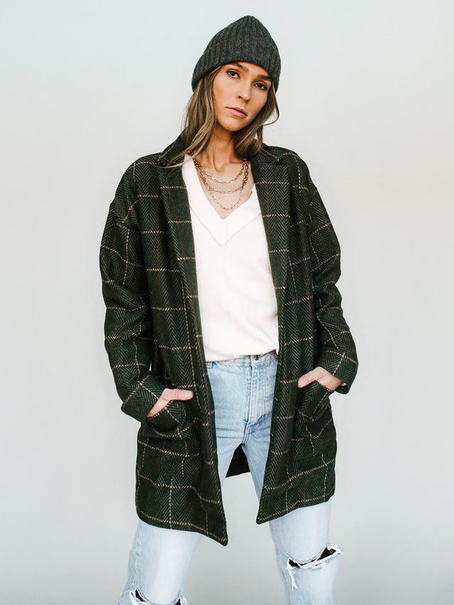 Plaid To Be Here Coat