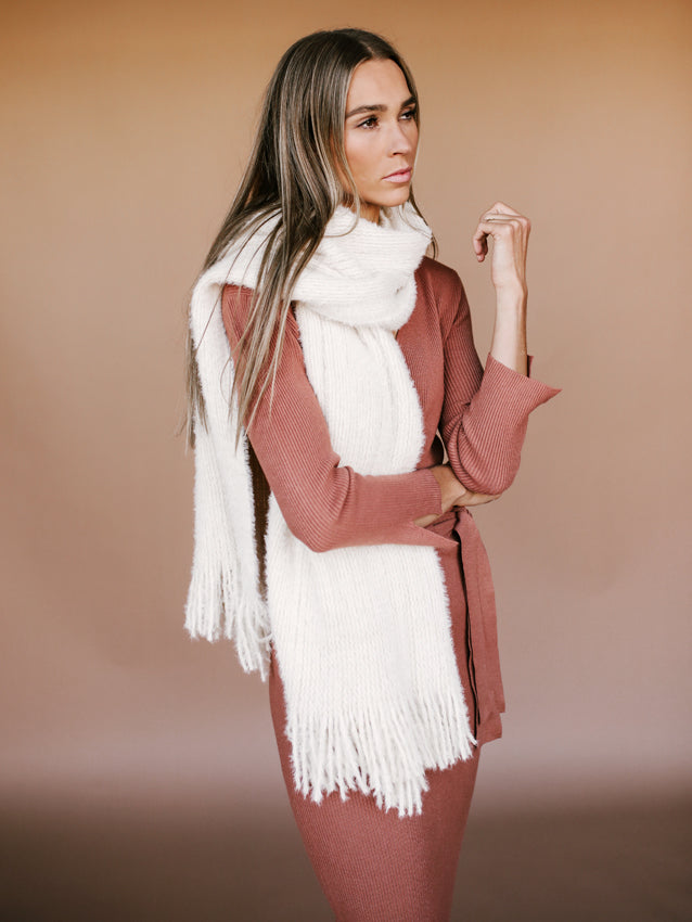 Whisper Fringe Blanket Scarf FREE PEOPLE