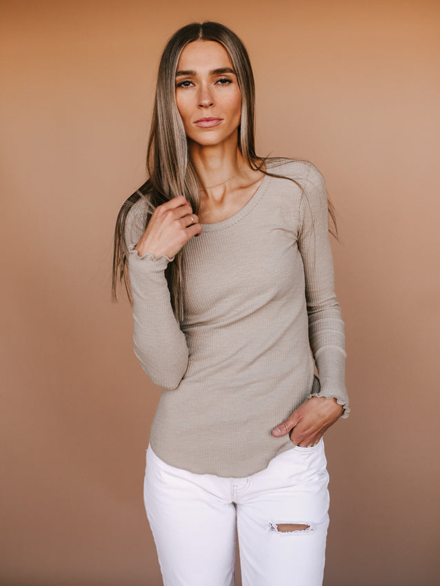 Got Your Back Top (Taupe)