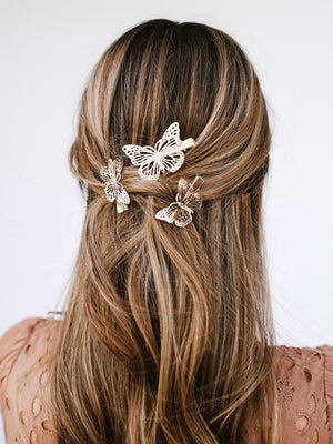 Butterfly Hair Clips (3 Piece)