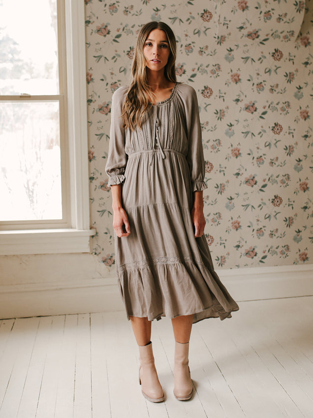 Roma Dress // Ash Taupe