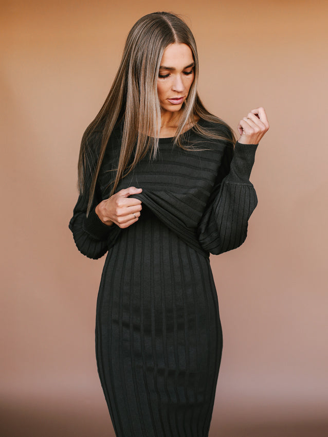 We Go Together Dress (Charcoal)
