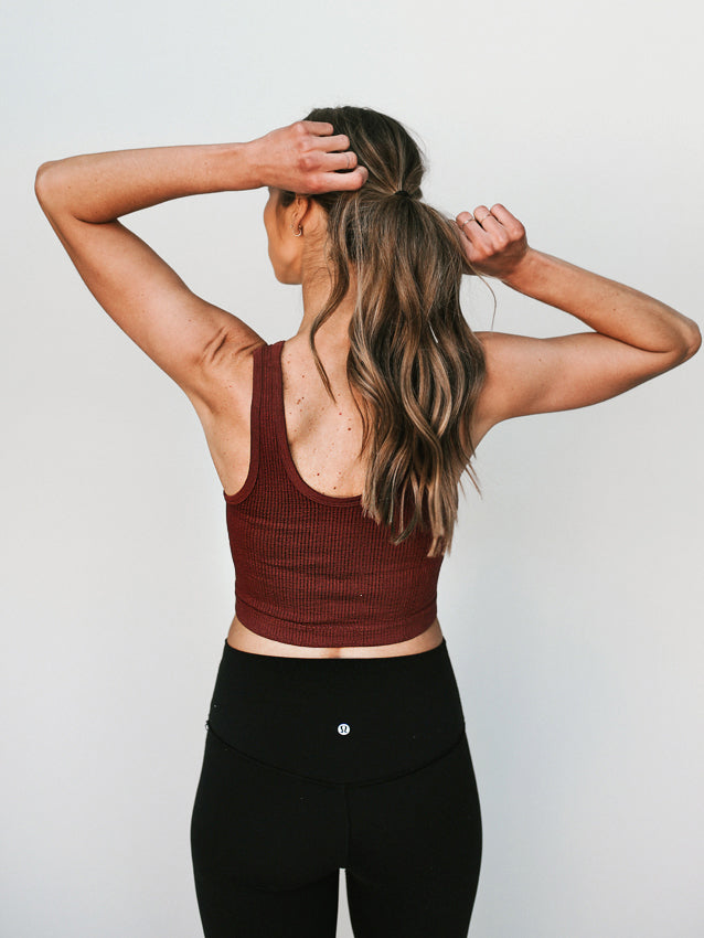 Girls Got Game Top // Burgundy