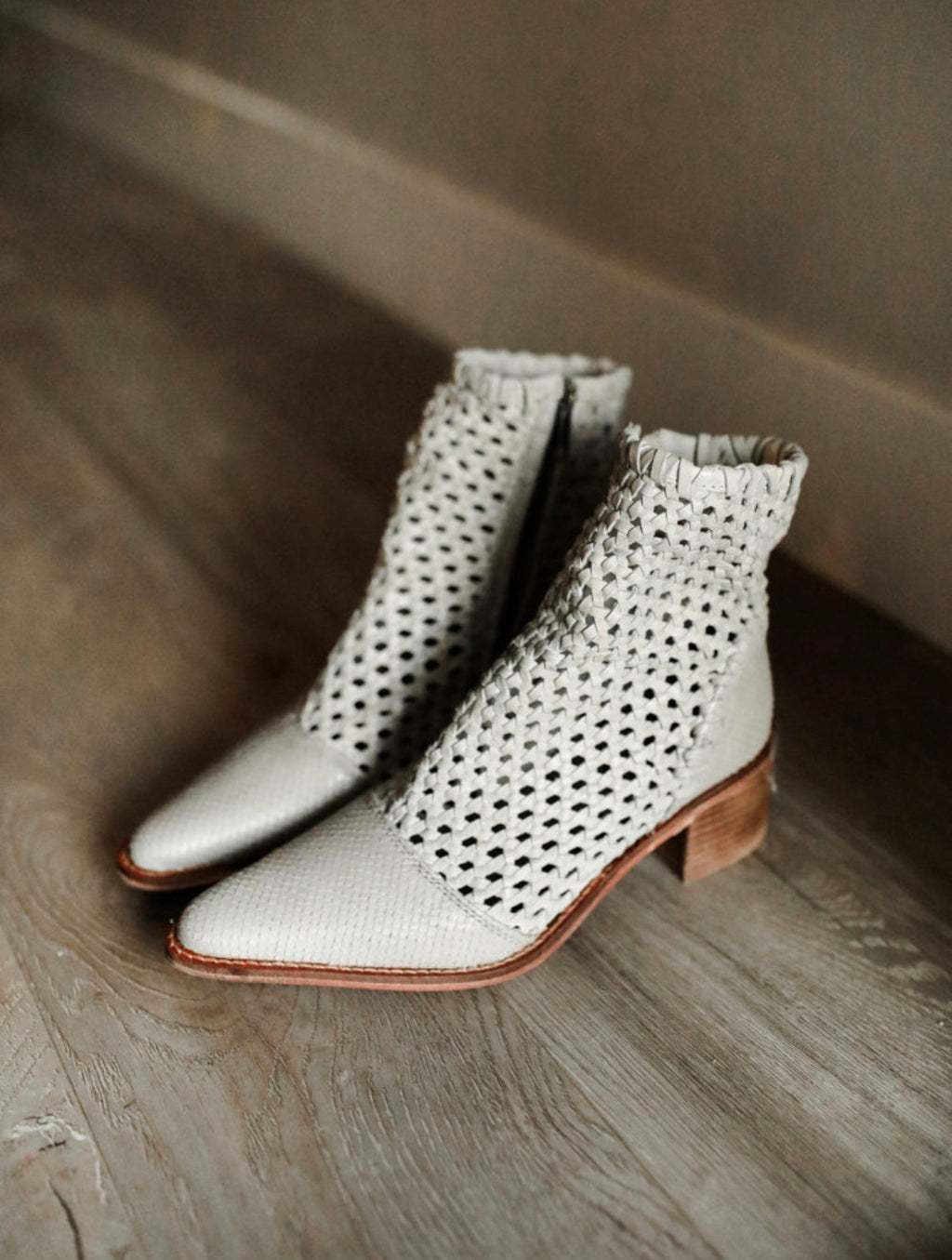 In the Loop Woven Bootie (Grey) :: Free People