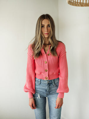 FREE PEOPLE All Yours Cardi (Bubblegum)