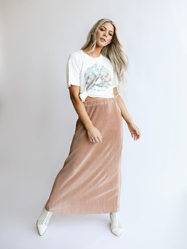 Pleated Demi Skirt
