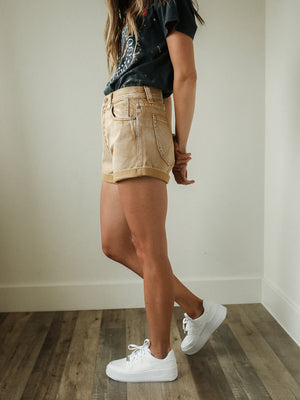 FREE PEOPLE Setting With The Sun Shorts (Sand)