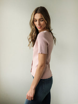 Reese Button Top