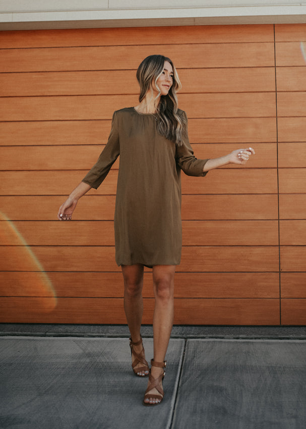 Golden Hour Silk Dress
