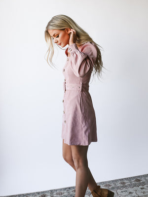 Heart Eyes Corduroy Dress