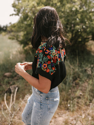 Mabel Embroidered Top