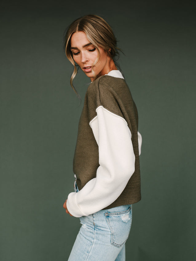 Tatum Sweater (Olive)