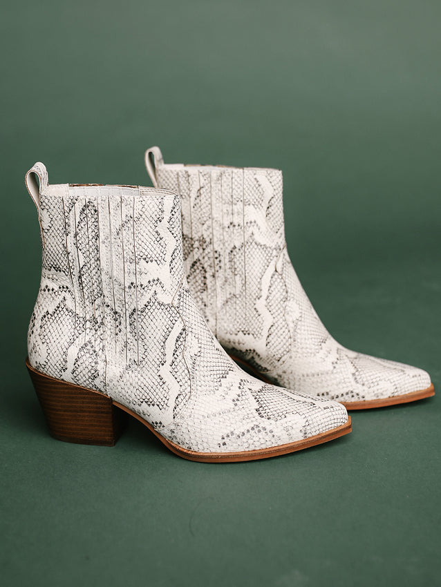 Dolce Vita  Serna Bone Snake Print Leather Boots