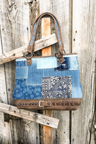 Denim Tote - The Diamond Spur Boutique