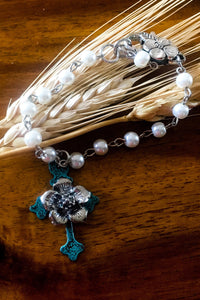 Pearl Cross Bracelet - The Diamond Spur Boutique
