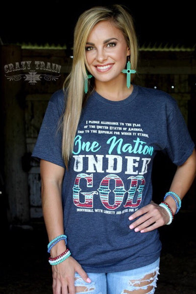 One Nation Tee- Crazy Train - The Diamond Spur Boutique