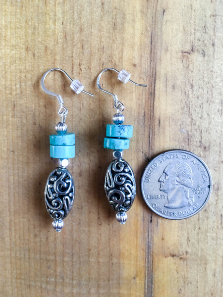 Turquoise Drop Earrings - The Diamond Spur Boutique