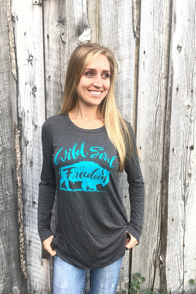 Wild Soul Long Sleeve Top - The Diamond Spur Boutique