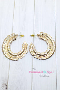 Feather Hoops - The Diamond Spur Boutique