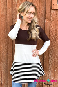 Block Color Top - The Diamond Spur Boutique