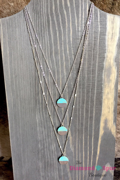Cheeky's Boho Turquoise Stack Necklace - The Diamond Spur Boutique