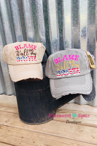 Blame It All On My Roots Ball Cap - The Diamond Spur Boutique