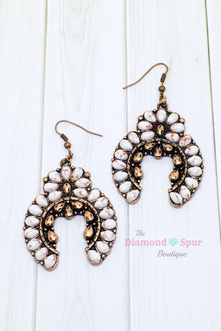 Metal Squash Blossom Earrings - The Diamond Spur Boutique