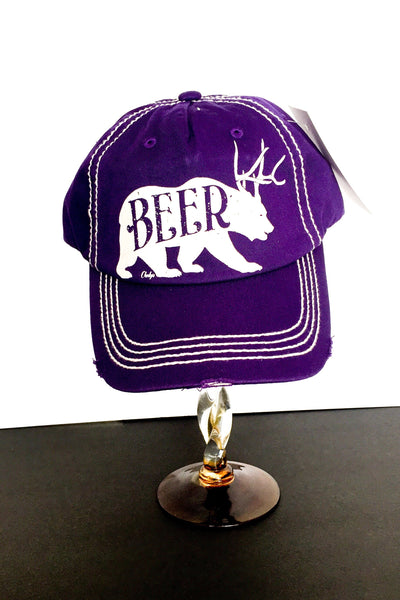 Cheeky's Beer Bear Distressed Cap - The Diamond Spur Boutique