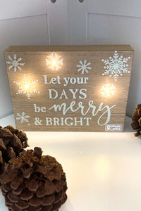 "LED Light Up Christmas Sign-""Merry"" - The Diamond Spur Boutique"