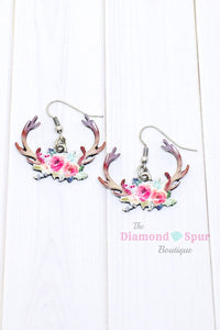 Floral Antler Earrings - The Diamond Spur Boutique