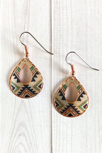 Green Native Earrings - The Diamond Spur Boutique