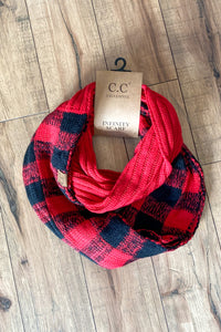 Black/red infinity scarf - The Diamond Spur Boutique